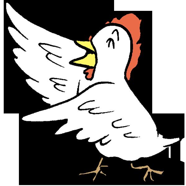 鳥踊るのイラスト