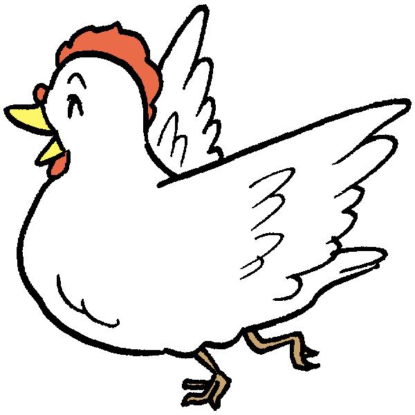 鳥はしゃぐのイラスト