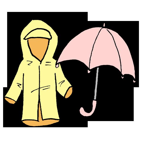 雨具のイラスト