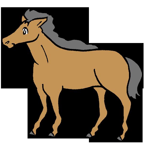 黒い馬のイラスト
