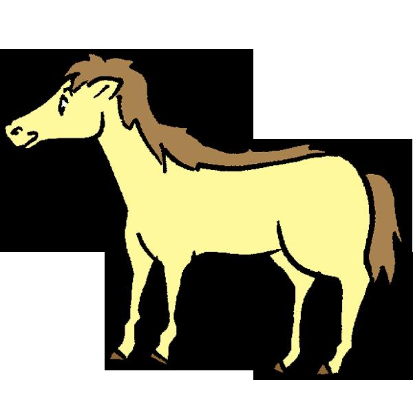 黄色い馬のイラスト