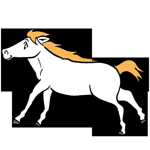 白馬のイラスト