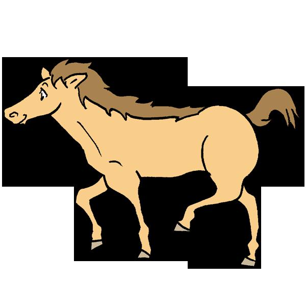 茶色い馬のイラスト