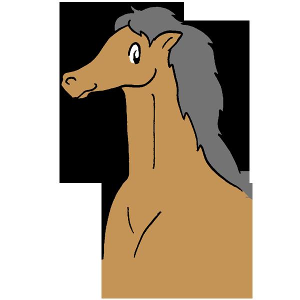 馬左向きのイラスト
