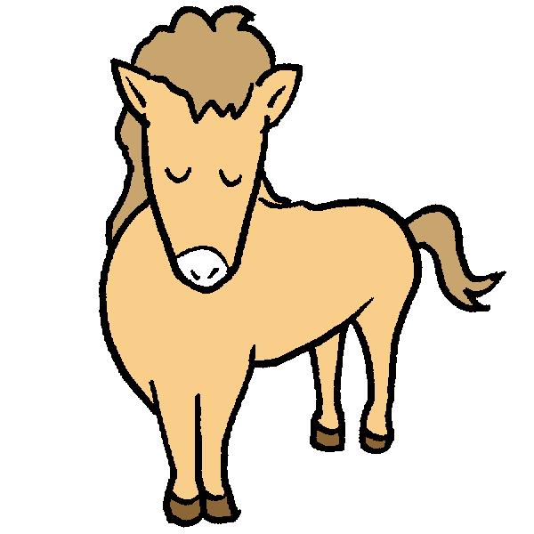 馬お辞儀のイラスト