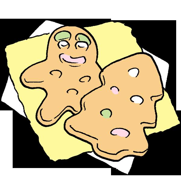 ジンジャークッキーのイラスト
