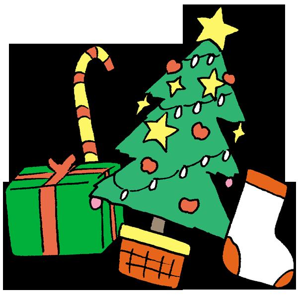 ツリーとプレゼントその1のイラスト