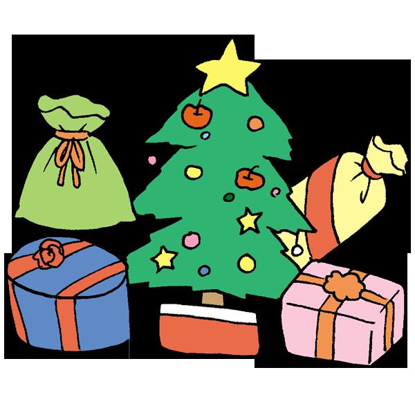 ツリーとプレゼントその2のイラスト