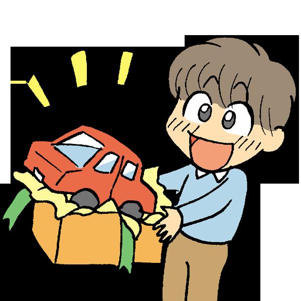 おもちゃのプレゼントのイラスト