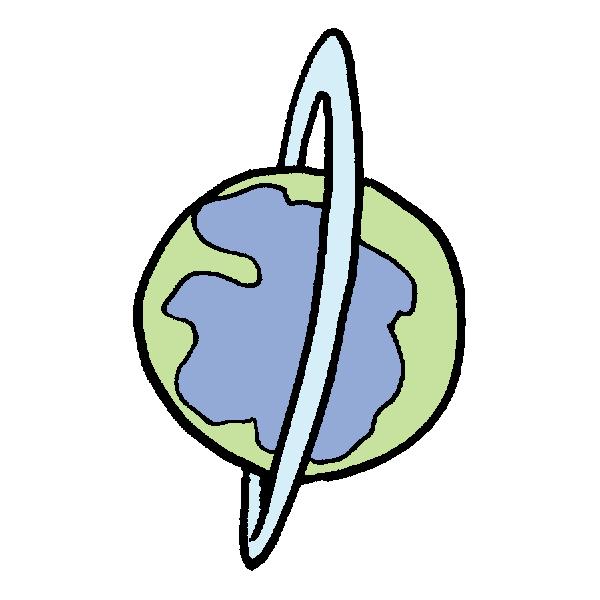 惑星のイラスト