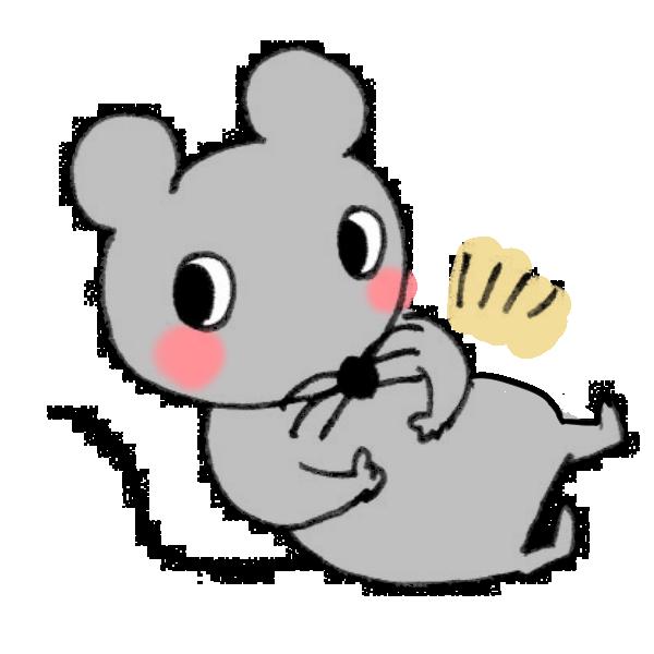 満腹ネズミのイラスト