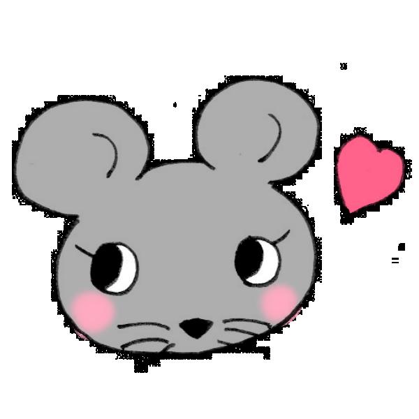 おすましネズミのイラスト