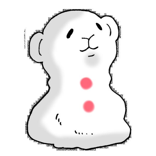 申の雪だるまのイラスト