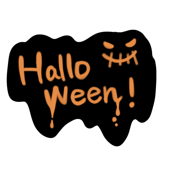 「halloween」文字のイラスト