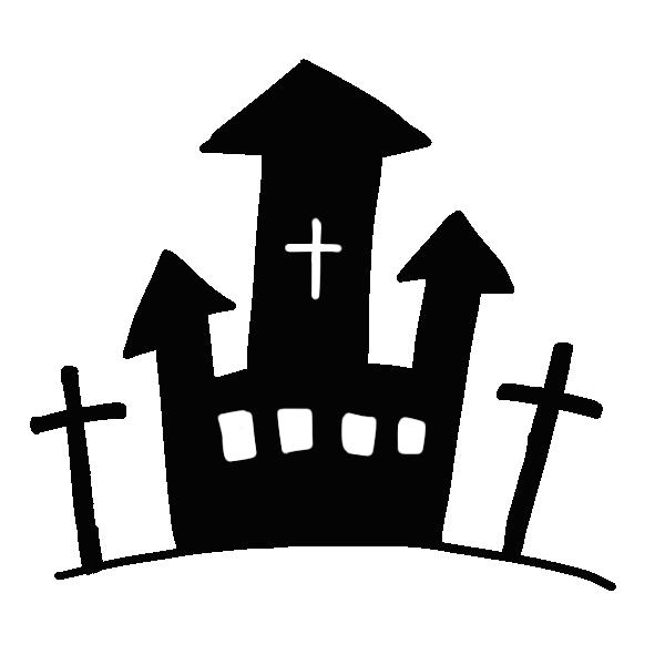 お城のシルエットのイラスト