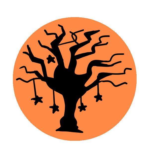 木のシルエットのイラスト