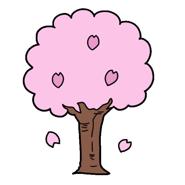 さくらの木のイラスト