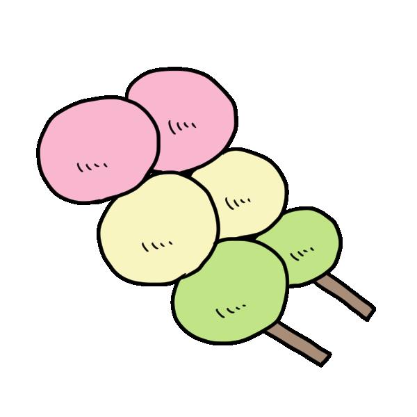 団子のイラスト
