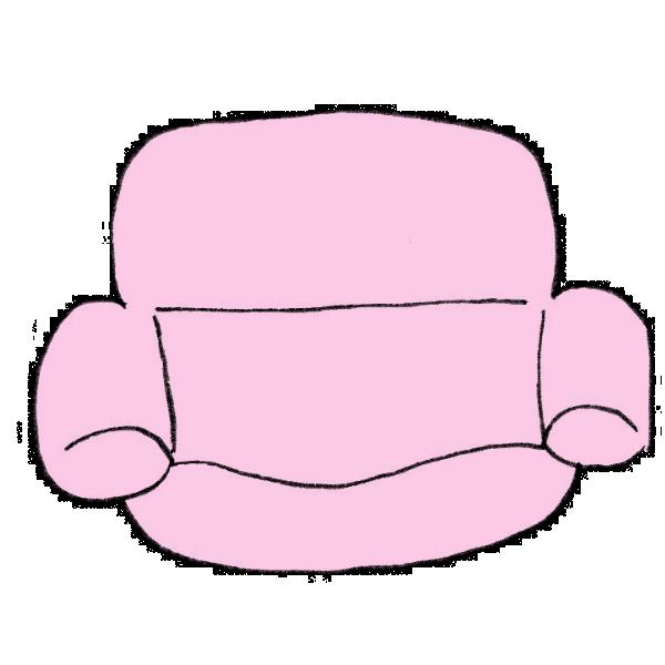 ソファのイラスト