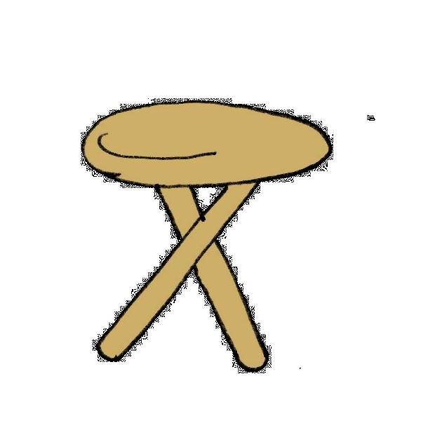 丸テーブルのイラスト