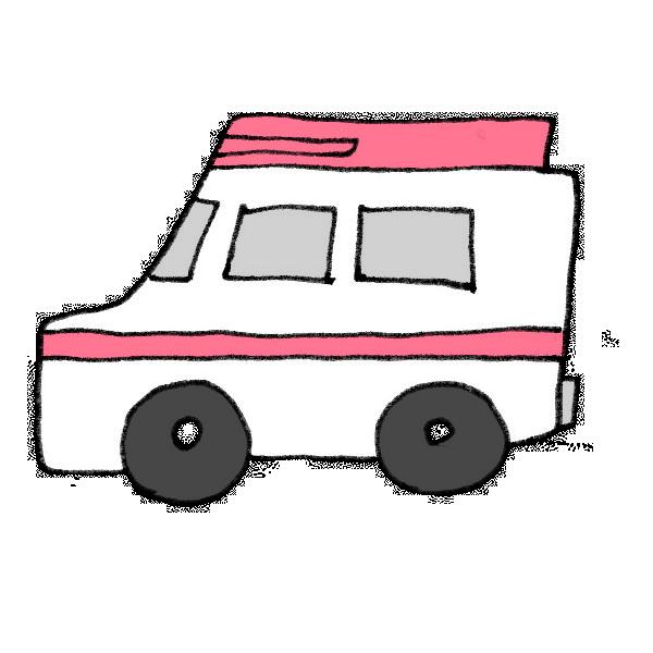救急車のイラスト