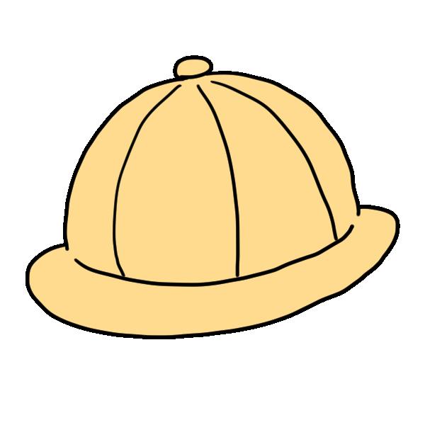 黄色い帽子のイラスト