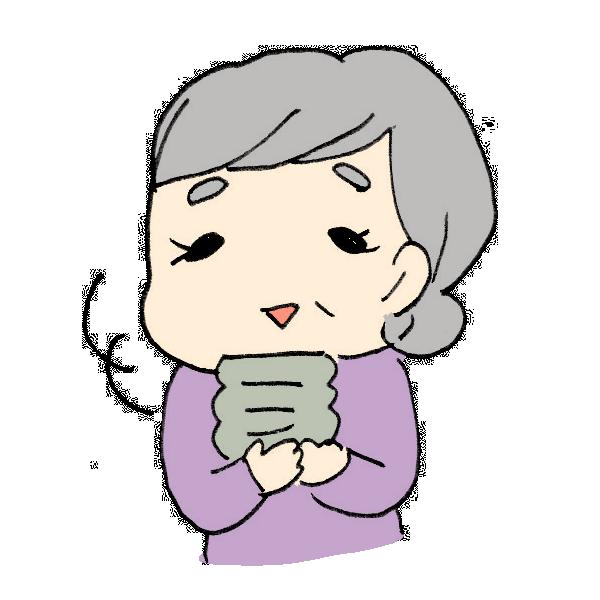 お茶を飲むおばあちゃんのイラスト かわいいフリー素材が無料のイラストレイン