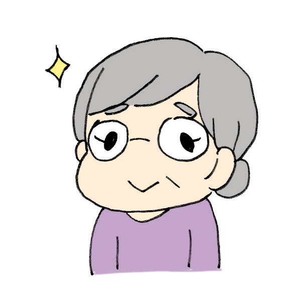 眼鏡をかけるおばあちゃんのイラスト かわいいフリー素材が無料のイラストレイン