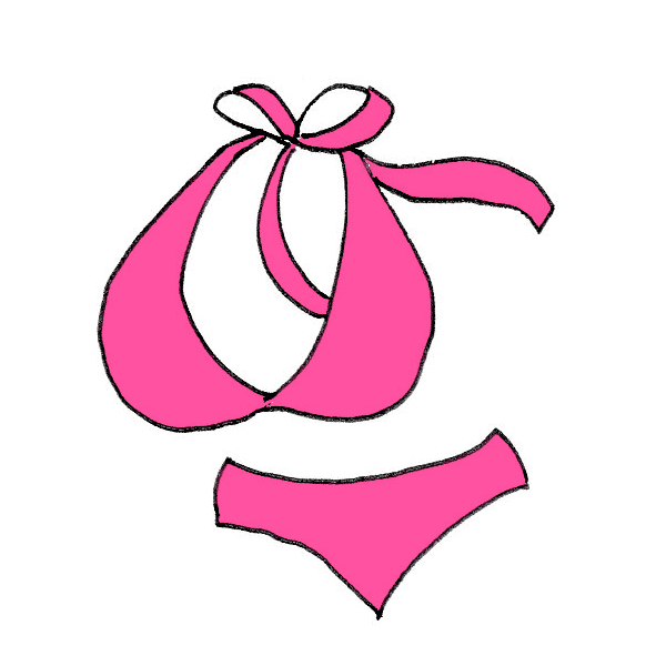 ピンクの水着のイラスト