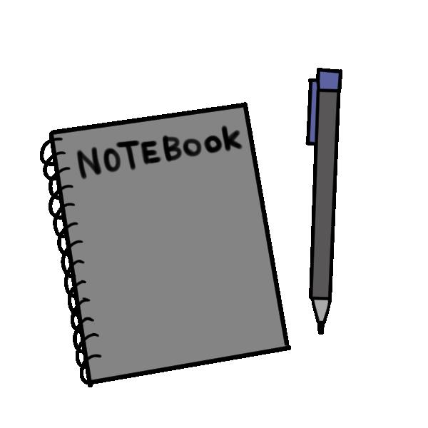 メモ帳とシャープペンのイラスト
