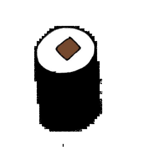 かんぴょう巻のイラスト