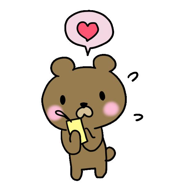 秘密の願い事と照れるクマのイラスト