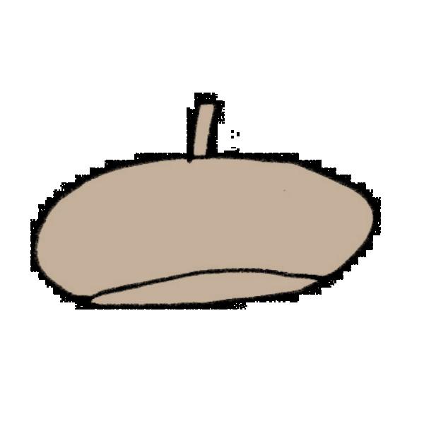 ベレー帽のイラスト