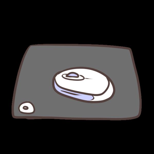 マウスとマウスパッドのイラスト