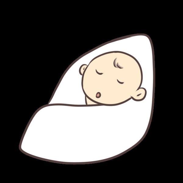 毛のない赤ちゃんのイラスト