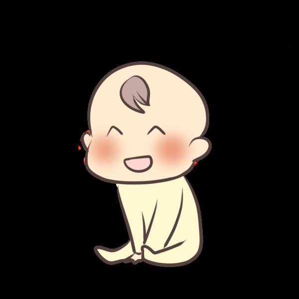 笑う赤ちゃんのイラスト