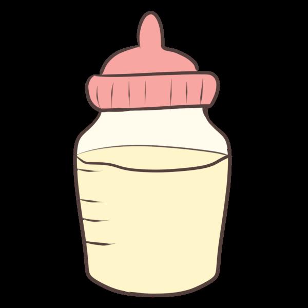 ミルク(ピンク)のイラスト