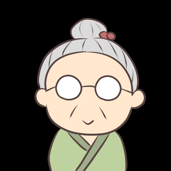 穏やかなおばあちゃんのイラスト