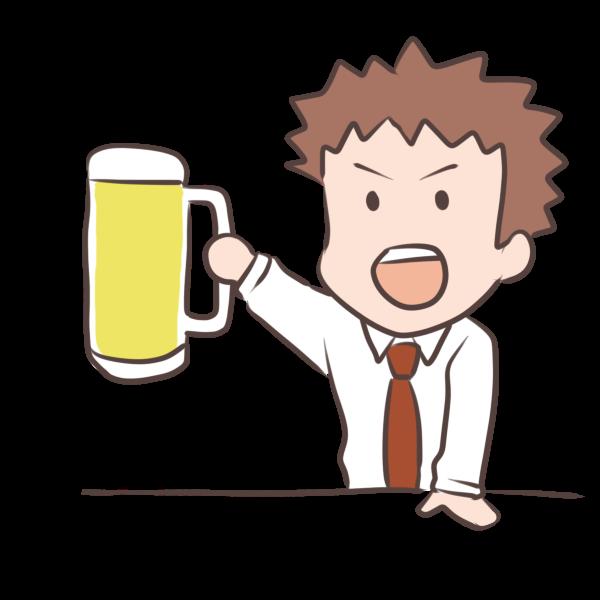 ビールで乾杯のイラスト