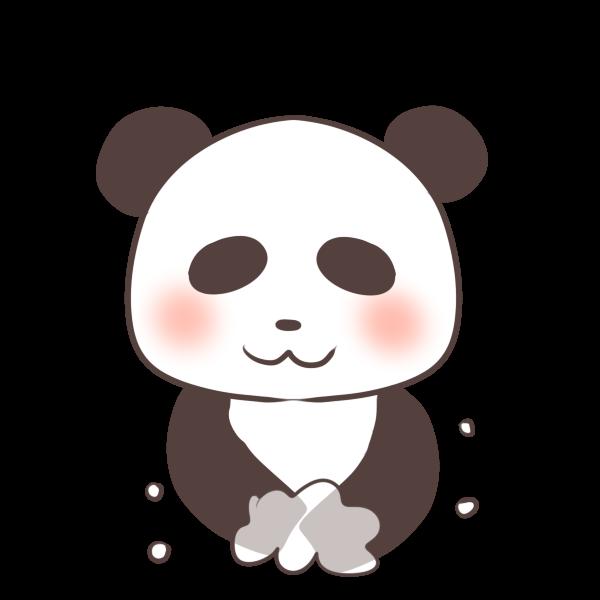 手を洗うパンダのイラスト