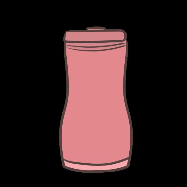 赤いタンブラーのイラスト