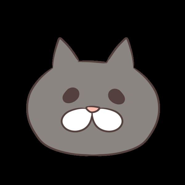 グレーの猫のイラスト