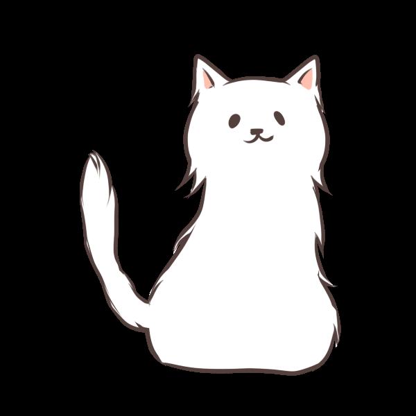 毛の長い猫のイラスト