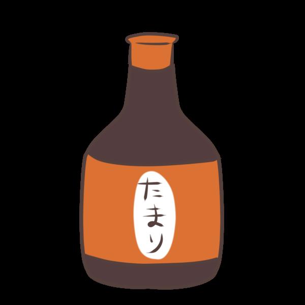たまり醤油のイラスト