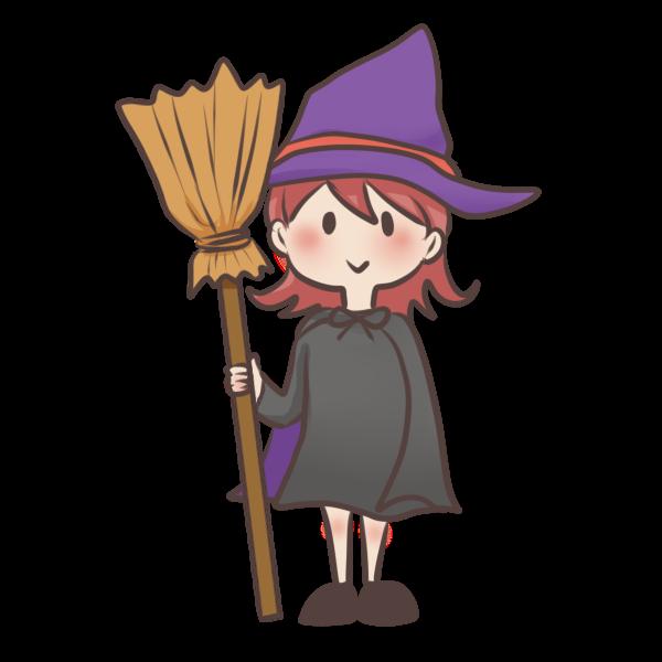 かわいい魔女のイラスト