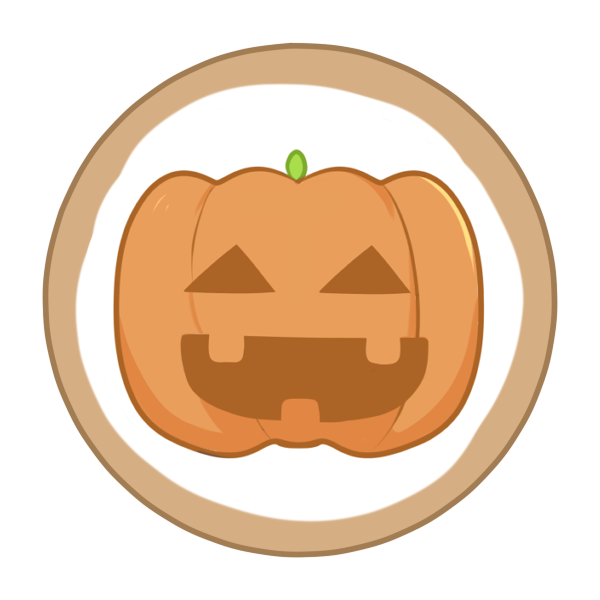 アイシングクッキー(かぼちゃ)のイラスト
