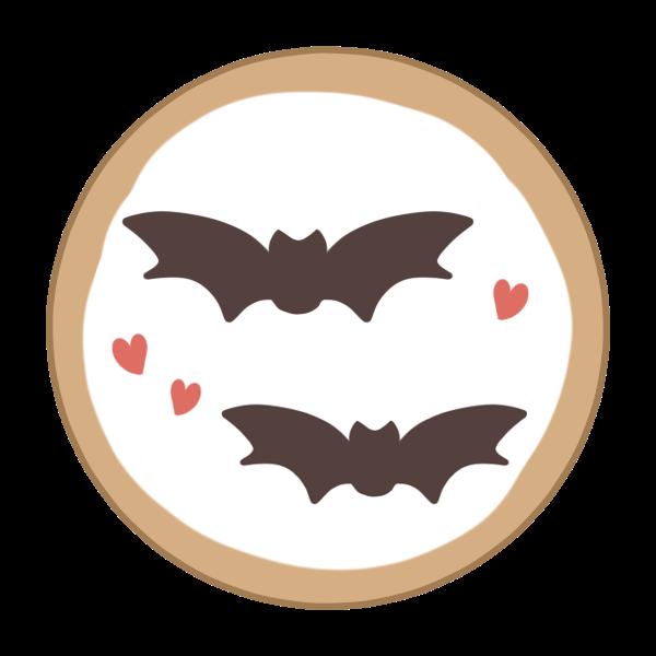 アイシングクッキー(コウモリ)のイラスト