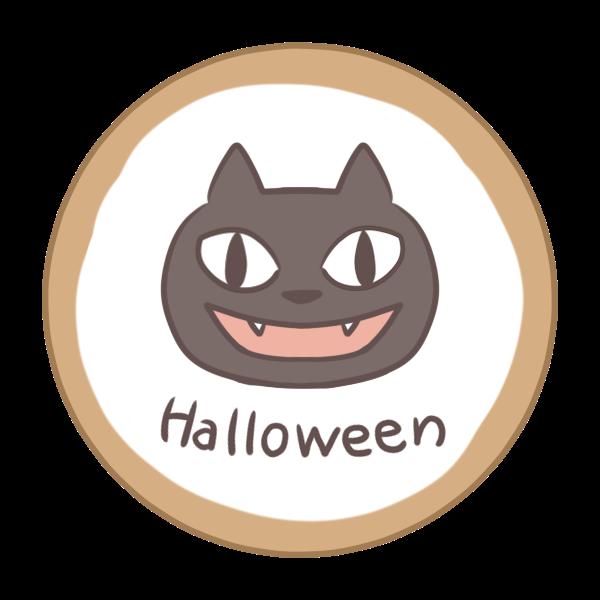 アイシングクッキー(黒猫)のイラスト