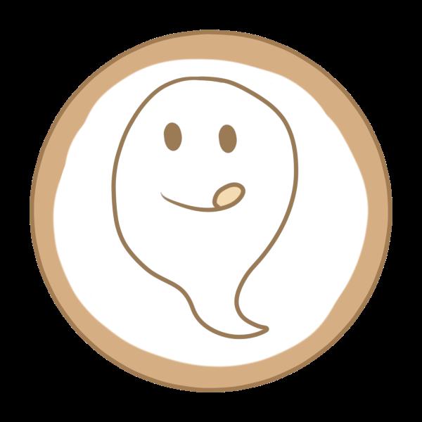 アイシングクッキー(おばけ)のイラスト