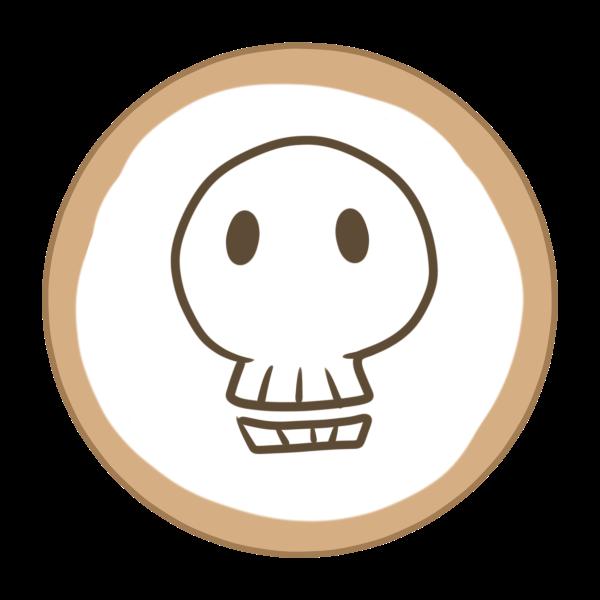 アイシングクッキー(ガイコツ)のイラスト